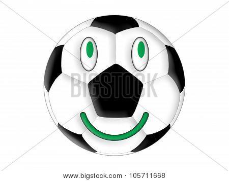Smiling football