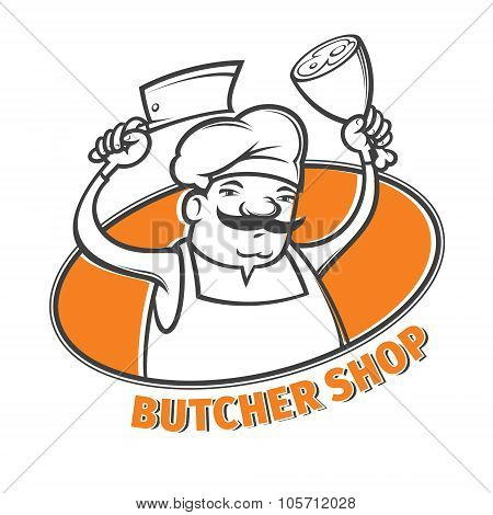 Butcher With Meat Cleaver