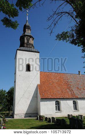 Historical Church Of Faro In Swenden