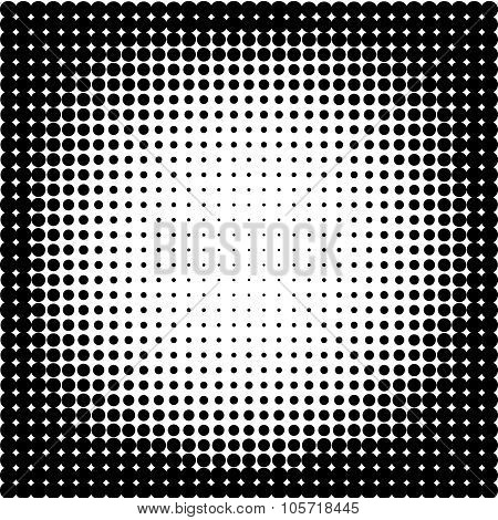halftone background.Halftone dots frame.Abstract vector illustration.