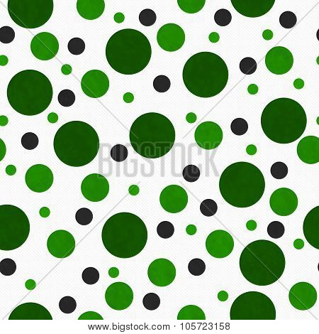 Green And White Polka Dot Tile Pattern Repeat Background