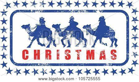 Christmas Magi Rubber Stamp