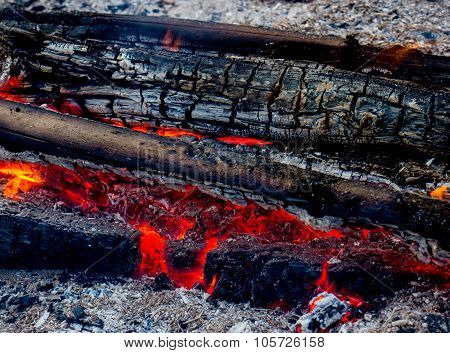 Red Warm Black Coal Background Texture