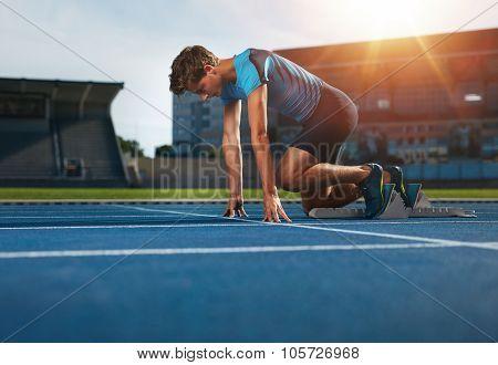 Runner Ready For Sports Exercise