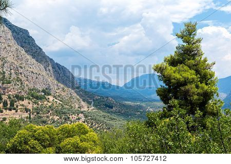 Valley Of Amphissa In Greece
