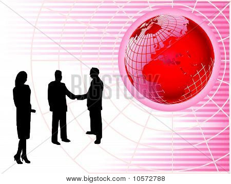 Red Global Business Background