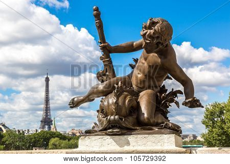 Bridge Of Alexandre Iii In Paris