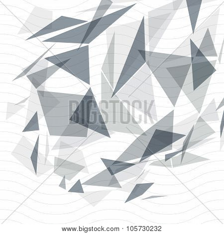 Grayscale op art design backdrop, abstract futuristic stylish blur background