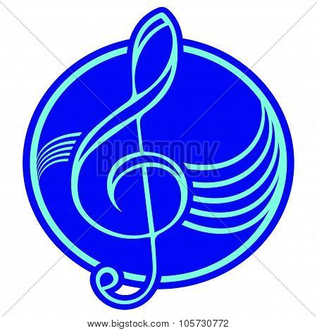 Logo with treble clef.