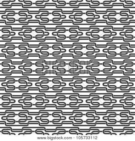 Seamless pattern of entwined H-shaped strips