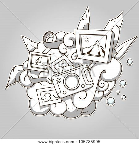 Photo abstraction colorless vector illustration
