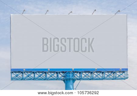 View Of Blank Billboard For Public Advertisement.