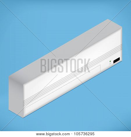 White isometric Airconditioner