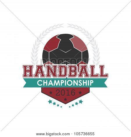 Handball championship emblem vector.