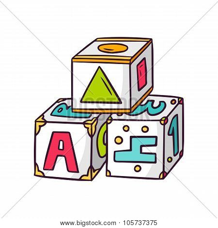 Toy Cubes Isolated On White