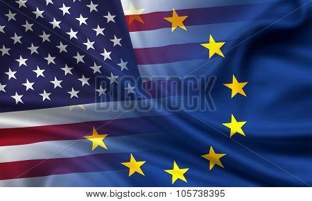 Usa An Eu - Flags Combined
