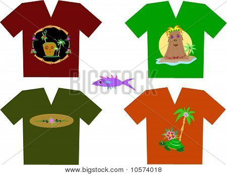 Mix of Tropical Shirts