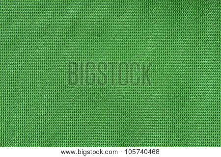 Green smooth canvas textured background.