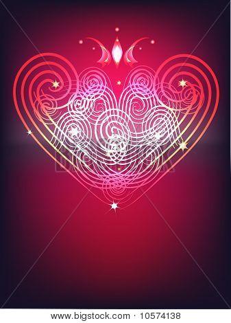 Leuchtende Herzen