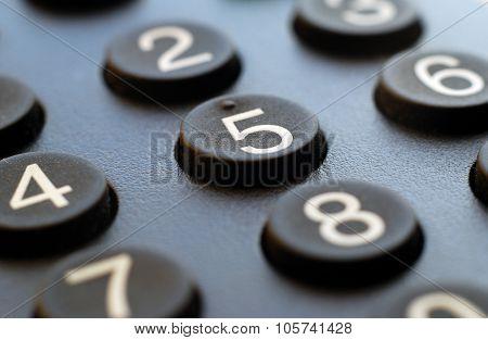 Macro of remote numbering keypad background