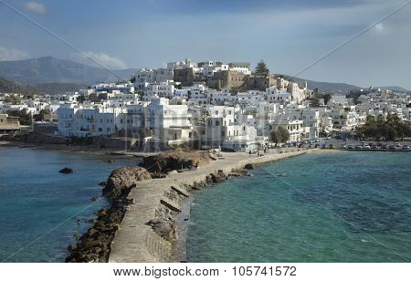 View of Naxos in the Cyclades, Greece