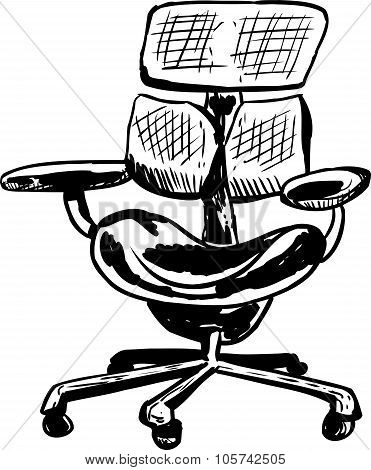 Outlined Ergonomic Mesh Chair