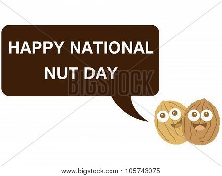 Happy national nut day cartoon version 3