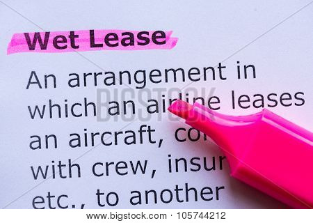 Wet Lease
