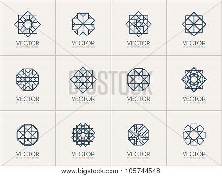 Vector geometric symbols