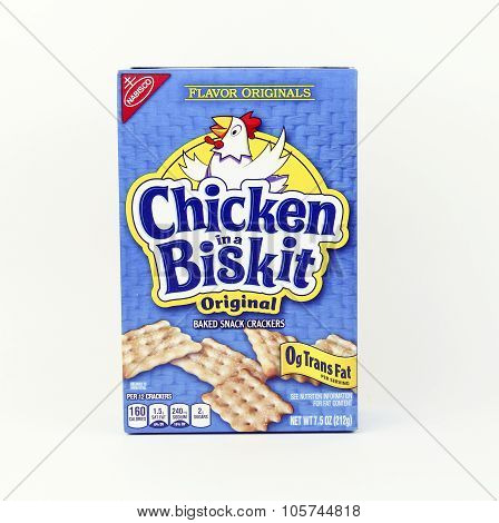 Box Of Nabisco Chicken In A Basket Snack Crackers