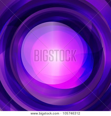 Blue And Pink Swirl Text Layout