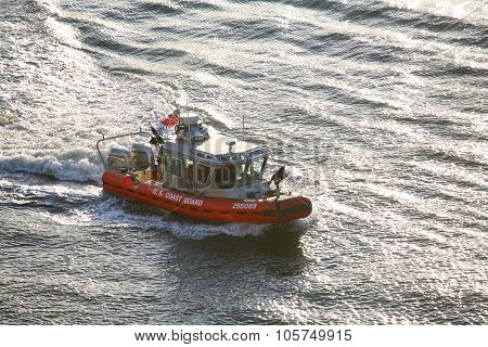 Coast Guard Powerboat Sailing
