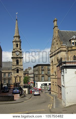 Inverness, Scotland - June 08, 2013: Street In Inverness, Scotland On A Sunny Summer Day