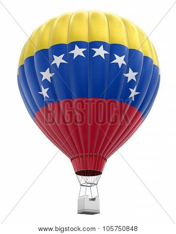Hot Air Balloon with Venezuelan Flag (clipping path included)