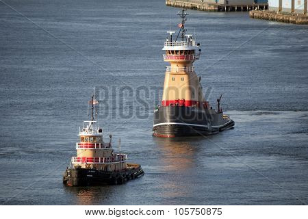 Tugboats In East River
