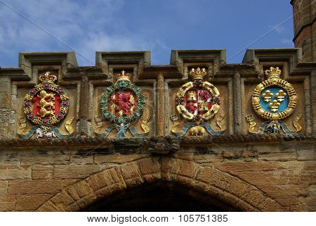 Linlithgow , Scotland - June, 2013: Scottish Coat Of Arms In Linlithgow Palace