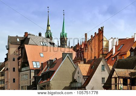 Nuremberg Roofs, Bayern, Germany