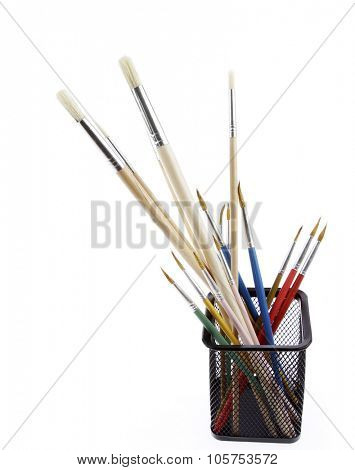 Paintbrushes isolated on white background
