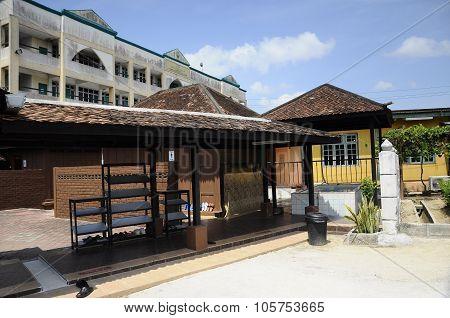 Ablution of Kampung Laut Mosque at Nilam Puri Kelantan, Malaysia