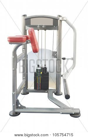 gym apparatus on the white background