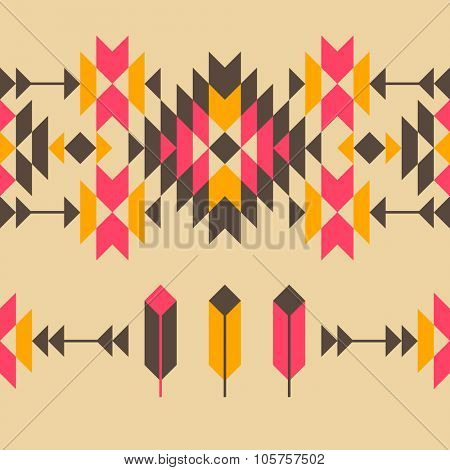 Native american style seamless ornament