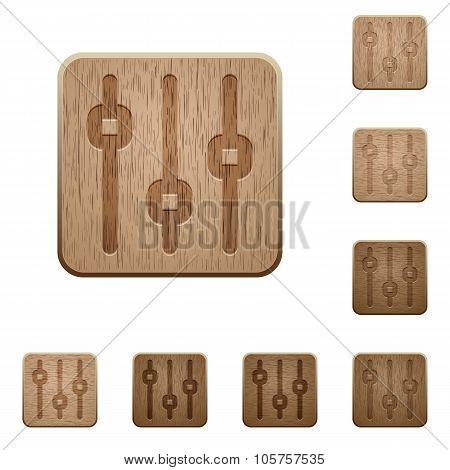 Vertical Adjustment Wooden Buttons