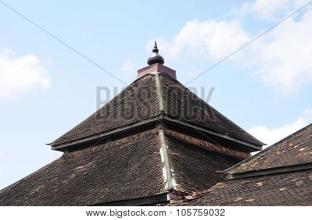 Roof detail of Kampung Laut Mosque at Nilam Puri Kelantan, Malaysia