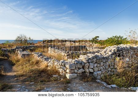 Ruins Of Chersonesus - Ancient Greek Town Near Modern Sevastopol. Unesco World Heritage Site. Crimea