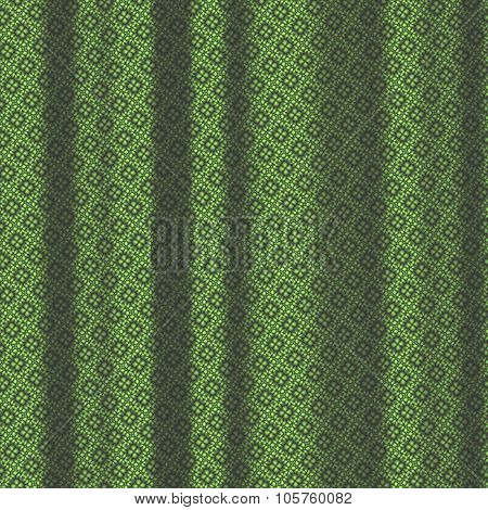 Green Pattern Drapery Seamless Background Texture.