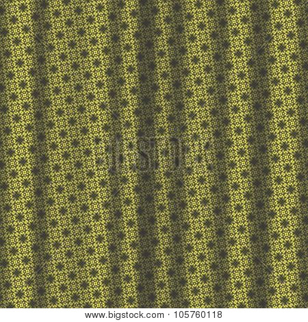 Yellow Black Pattern Drapery Seamless Background Texture.