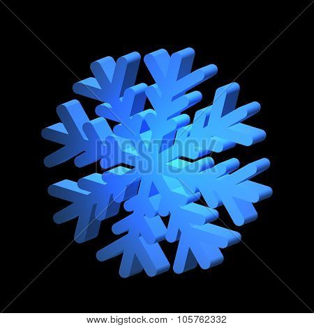 Relief snowflake for various design