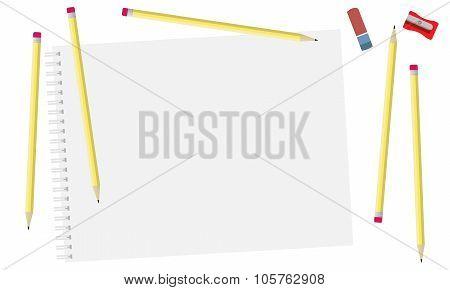 Sketch pad and pencils.