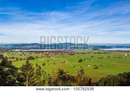 Green Fields Next To Neuschwanstein