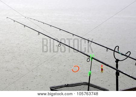Fishing Rods In Rainy Weather